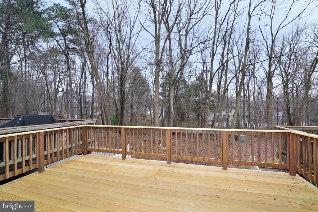 Rear Deck - View of woods - 1485 AUTUMN RIDGE CIR, RESTON
