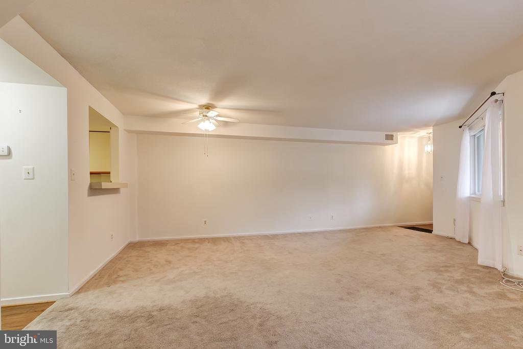 Expansive Living Room/Dining Room - 1951 SAGEWOOD LN #203, RESTON