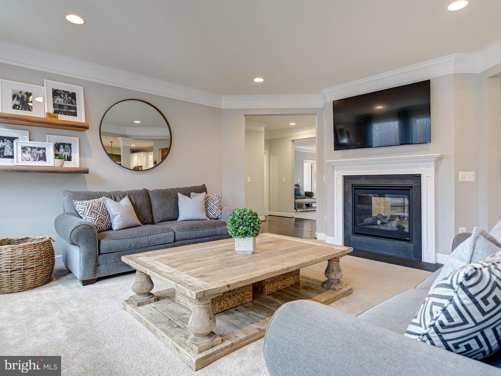 Gas Fireplace In Family Room - 41532 BLAISE HAMLET LN, LEESBURG