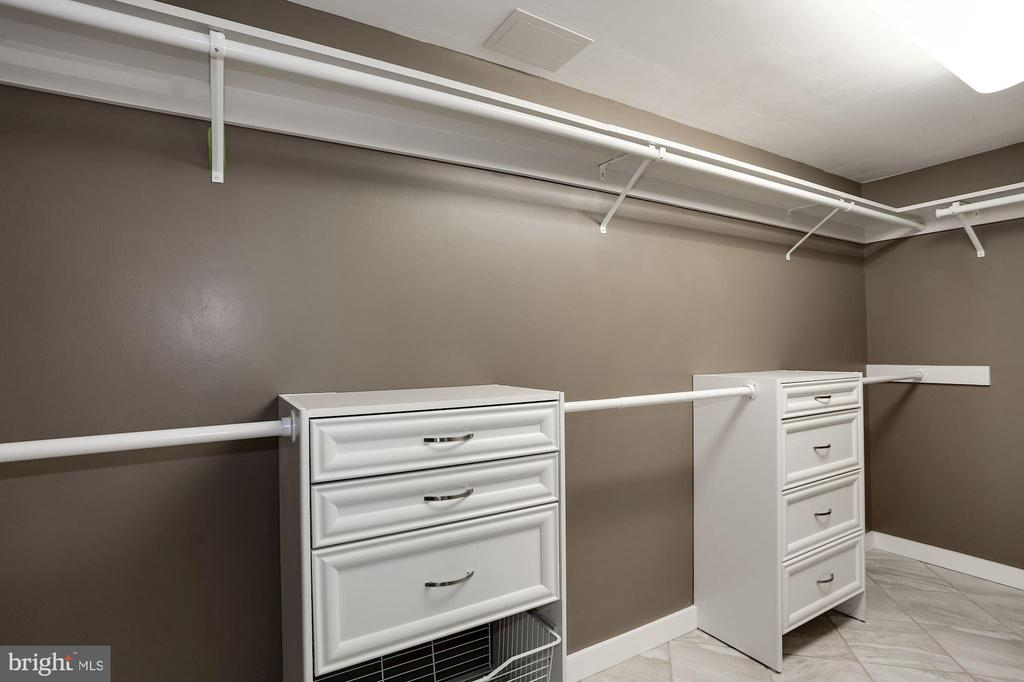 Walk-in closet in the owner's bathroom - 250 S REYNOLDS ST #1307, ALEXANDRIA