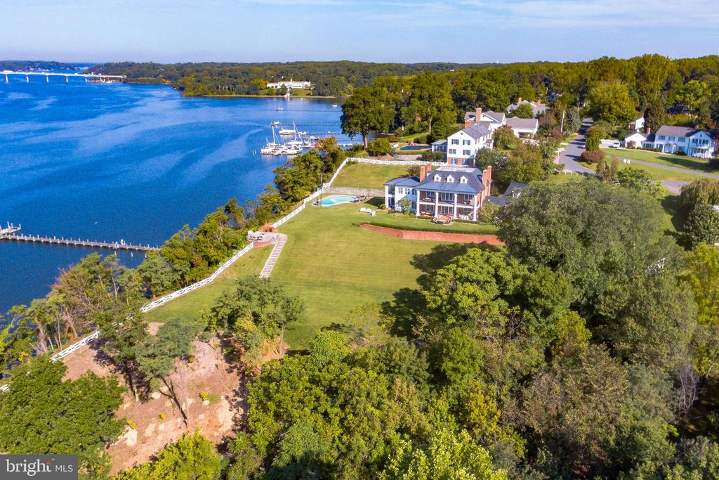 Aerial views of Severn River waterfrontage - 1932 CARROLLTON RD, ANNAPOLIS