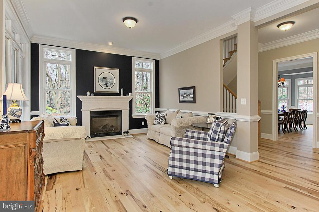 Living Room with Hickory Hardwood Floors - 7380 CLIFTON RD, CLIFTON