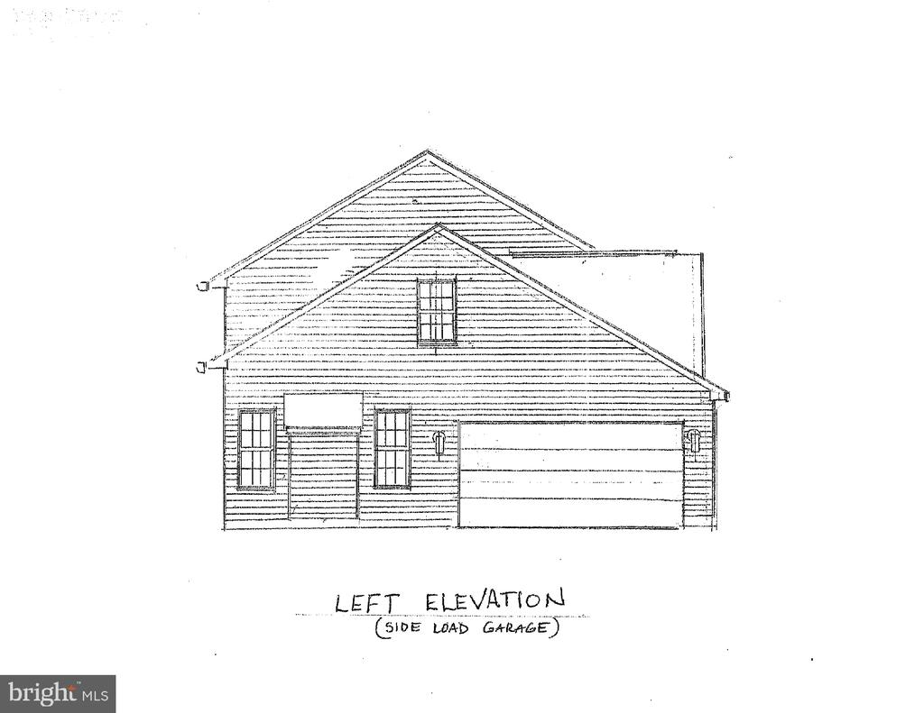 Side Elevation (side load garage) - 10825 BAKER RD, KEYMAR