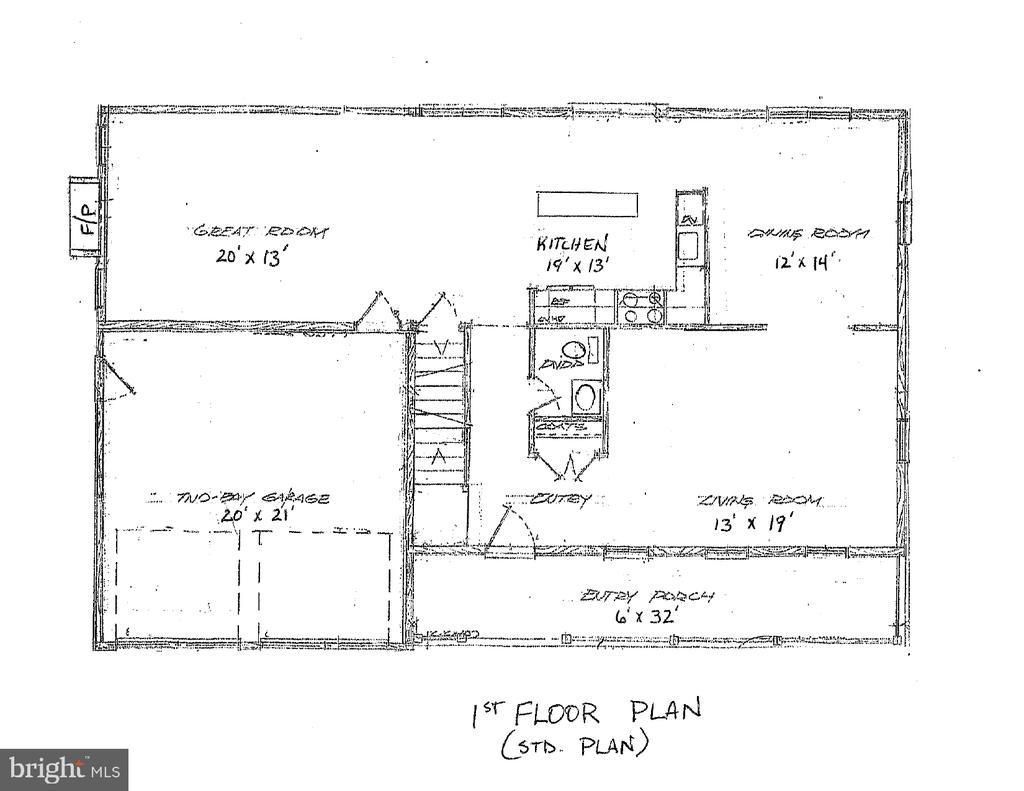 Standard 1st  floor plan - 10825 BAKER RD, KEYMAR