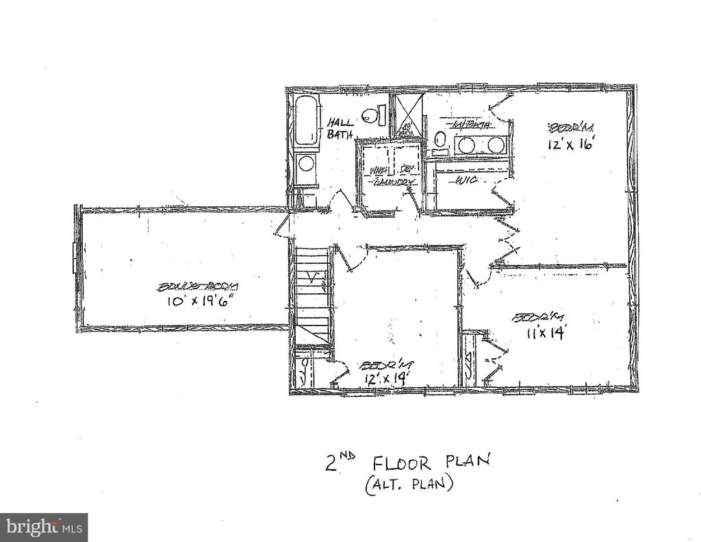 Alternataive 2nd floor plan - 10825 BAKER RD, KEYMAR