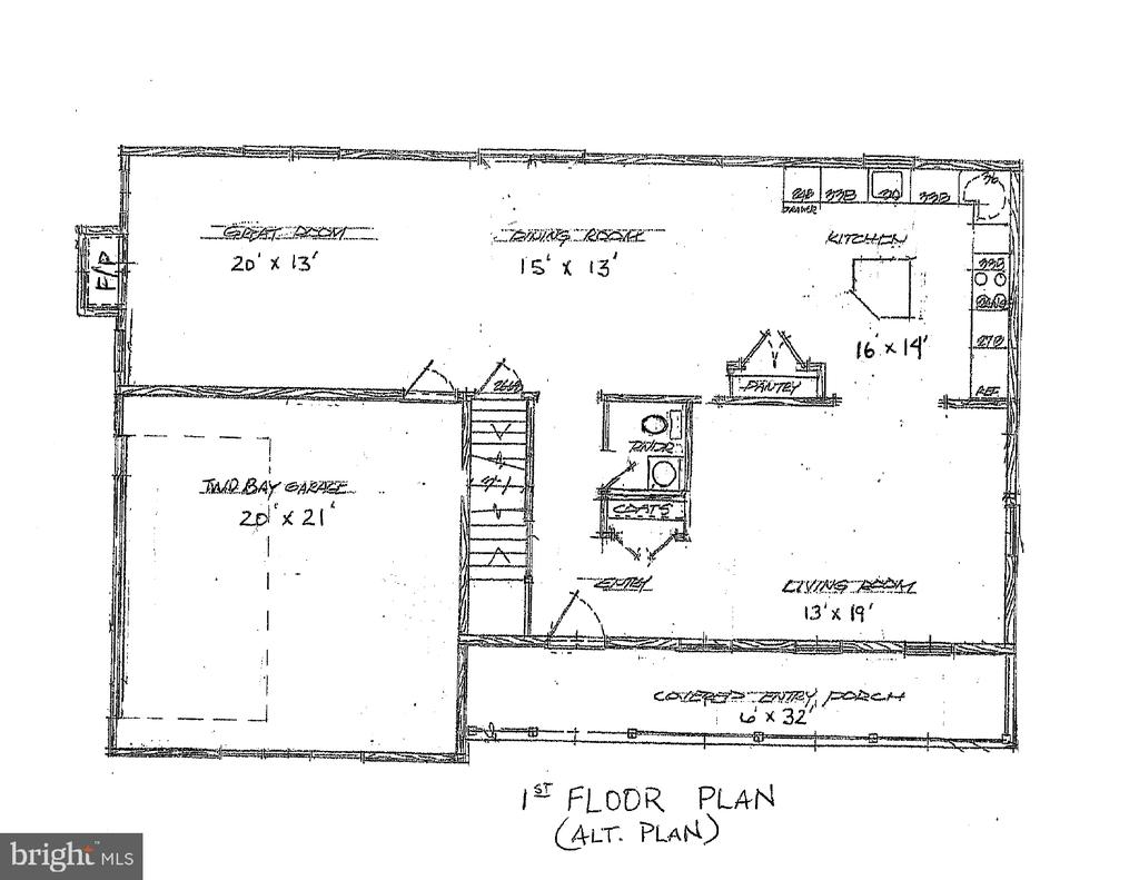 Alternative 1st floor plan - 10825 BAKER RD, KEYMAR