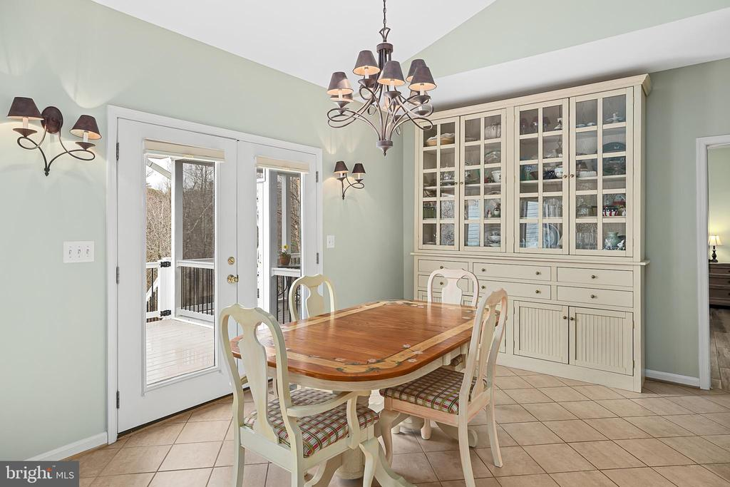 FRENCH DOORS  LEAD OUT TO THE DECK - 9630 SOUTHLAKE DR, SPOTSYLVANIA