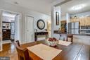 Dining Area/Kitchen - 7111 WOODMONT AVE #412, BETHESDA