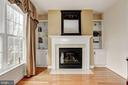 Master Suite Fireplace - 8600 RIVER GLADE RUN, LAUREL