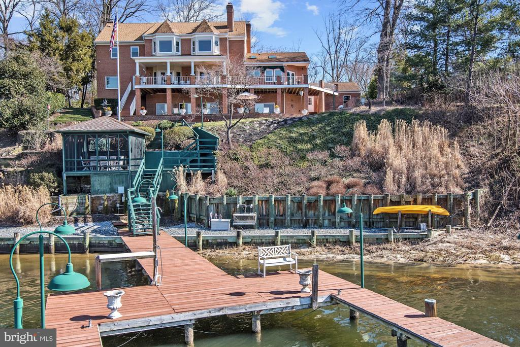 Waterfront Elevation and Crab Shack Pavilion - 1128 ASQUITH DR, ARNOLD