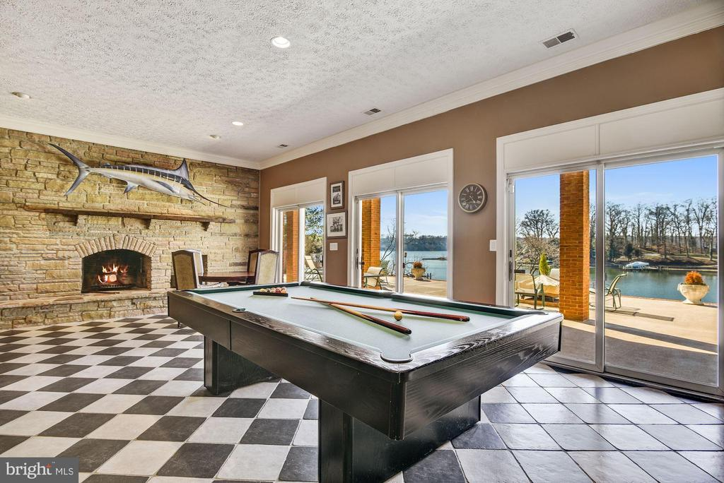 Waterside Billiards Area and Fireplace - 1128 ASQUITH DR, ARNOLD