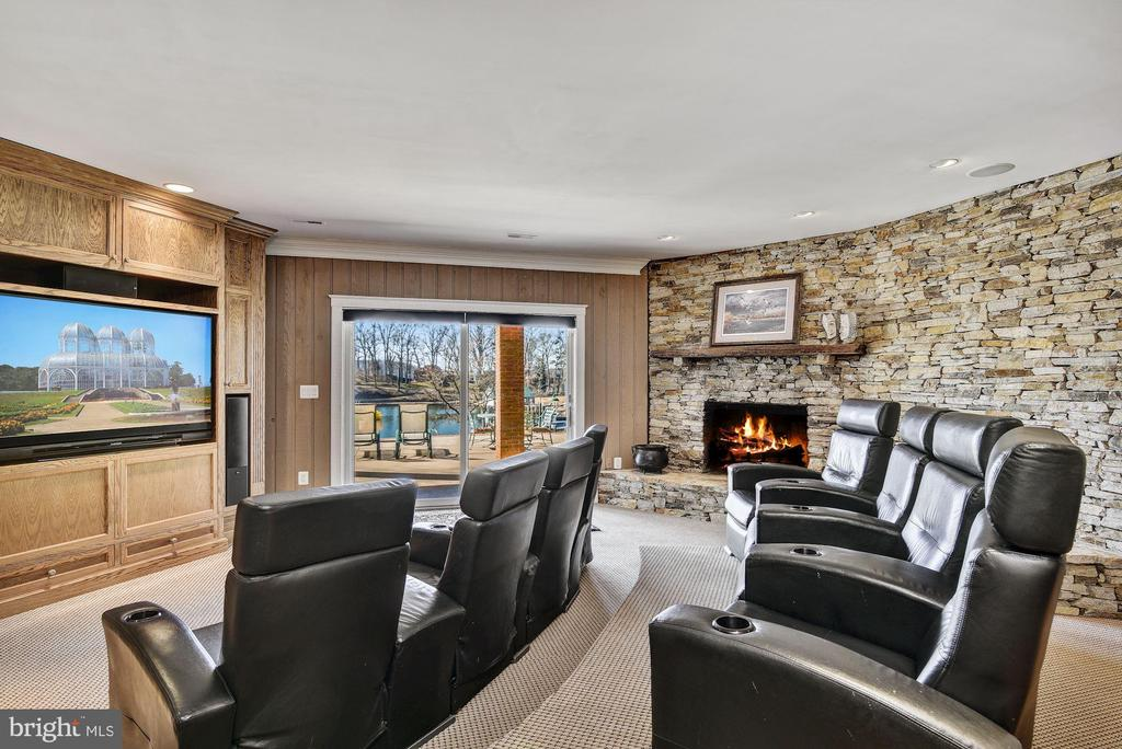 Theater Room w/ Walk-out  Waterside Patio Access - 1128 ASQUITH DR, ARNOLD
