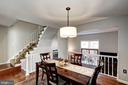 Dining Room overlooking the living room - 2354 HORSEFERRY CT, RESTON