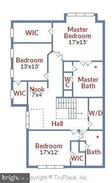 Upper Level Floor Plan - 47640 PAULSEN SQ, STERLING
