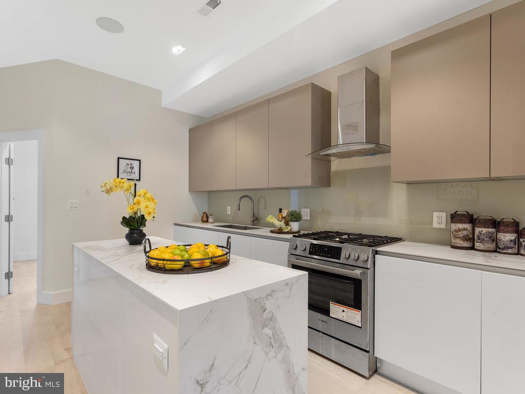 Kitchen ft. Scavolini Cabinetry with Task Lighting - 1530 3RD ST NW #2, WASHINGTON
