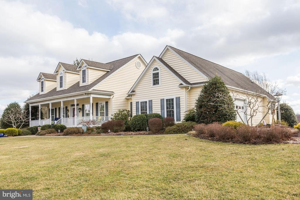 Exterior Front with 2 car garage - 2407 FLAG MARSH RD, MOUNT AIRY