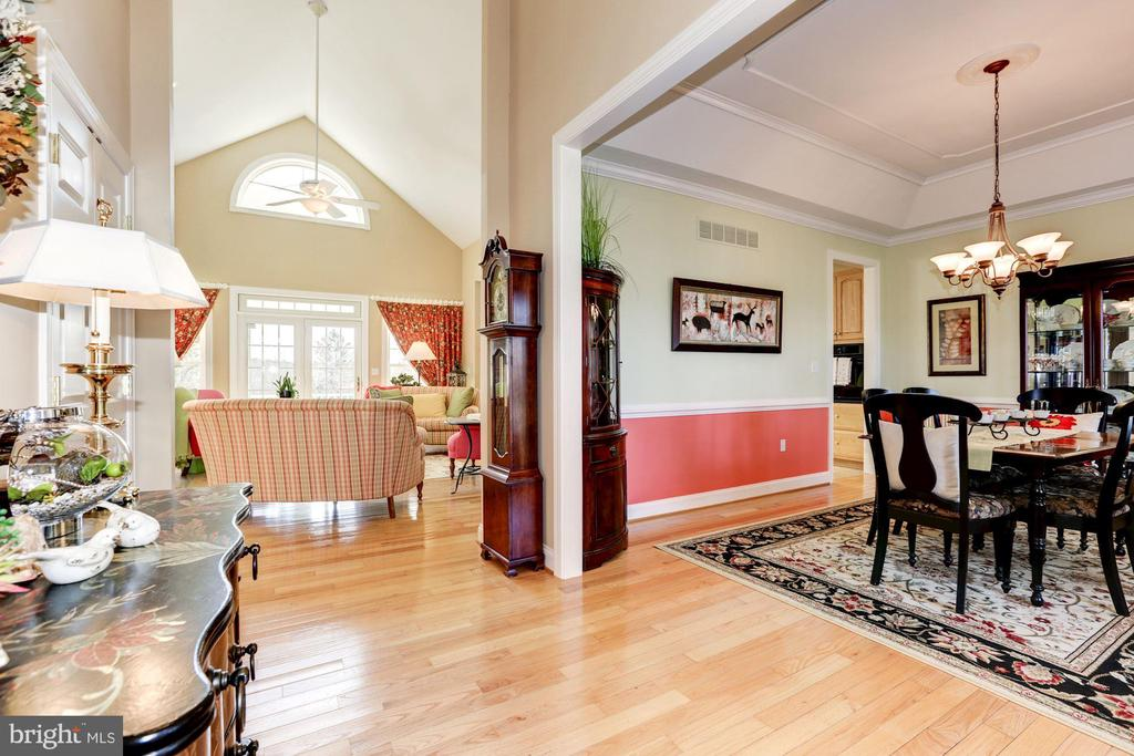 View from the foyer - 2407 FLAG MARSH RD, MOUNT AIRY