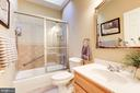 Main level hallway bathroom - 2407 FLAG MARSH RD, MOUNT AIRY
