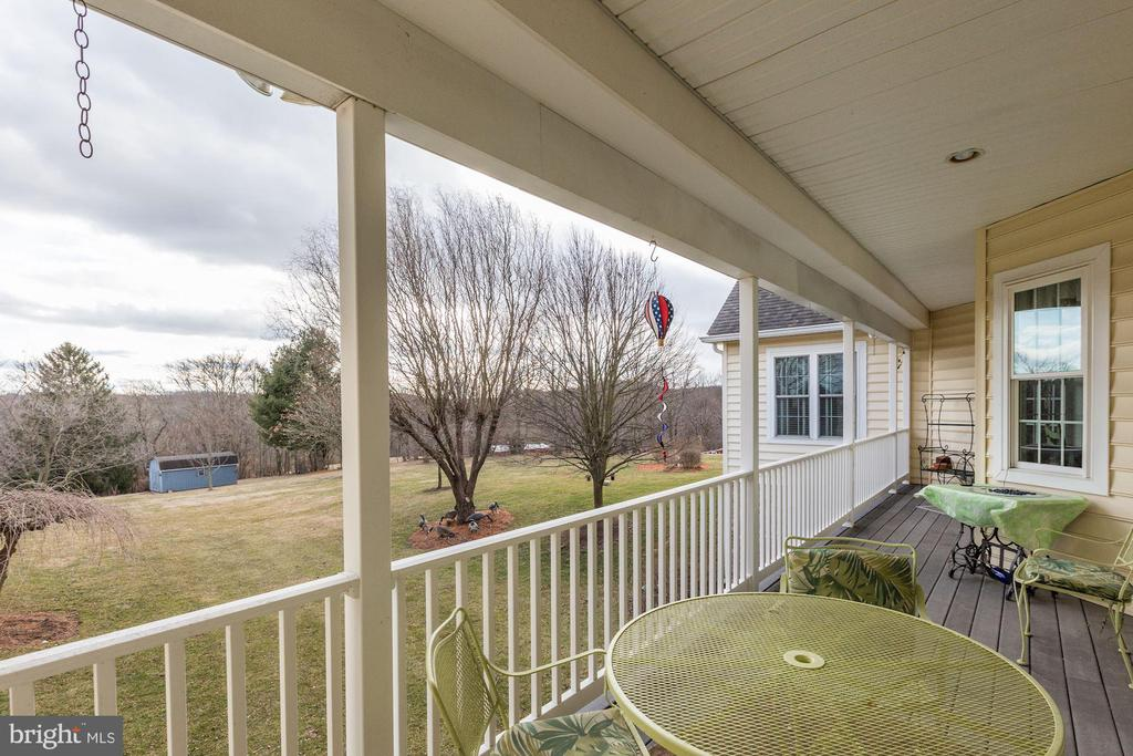 Great deck view to the right - 2407 FLAG MARSH RD, MOUNT AIRY
