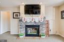 Stone Fireplace Living Room - 350 ANGELS WAY, WINCHESTER