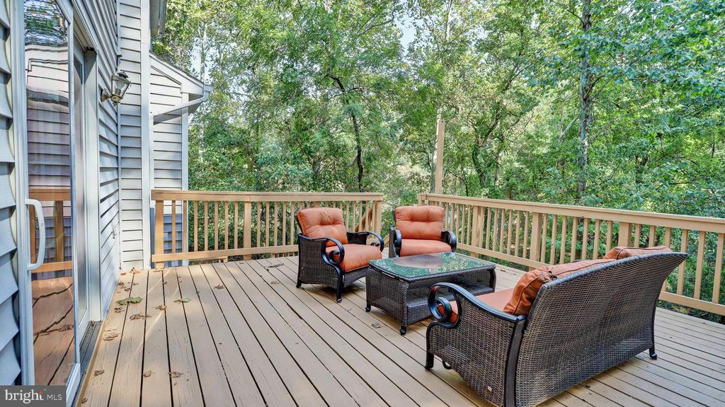 Top level of the deck.... - 7504 GLENNON DR, BETHESDA
