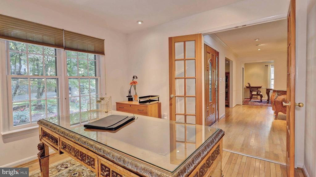 Home office with french doors... - 7504 GLENNON DR, BETHESDA