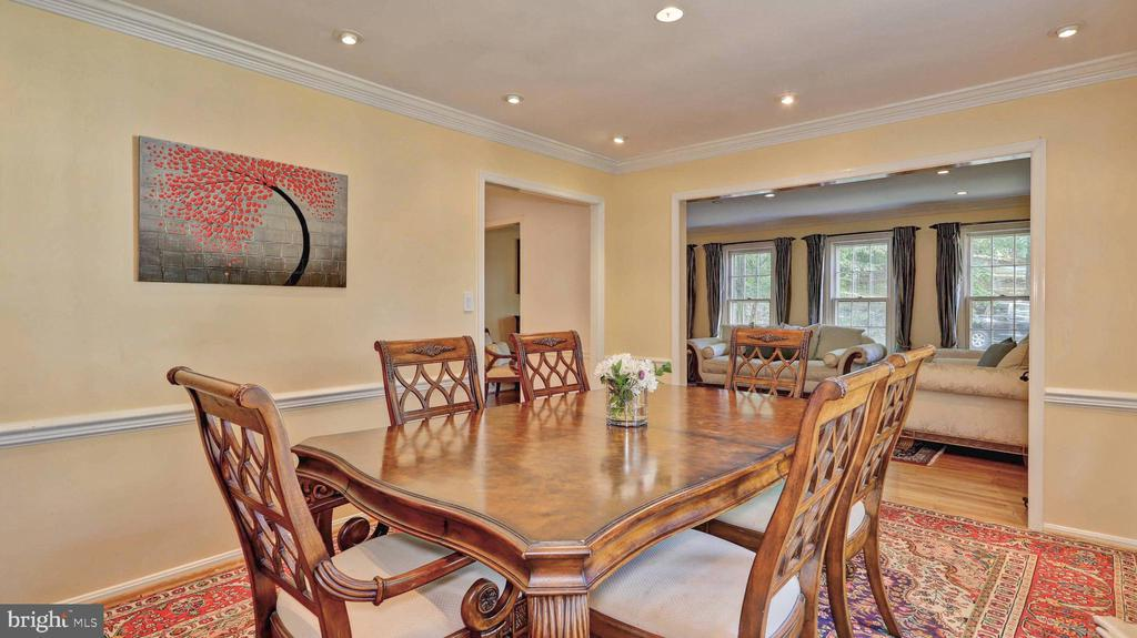 Dining room with direct access to living room... - 7504 GLENNON DR, BETHESDA