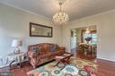 Formal living room with crown molding. - 118 NORTHAMPTON BLVD, STAFFORD
