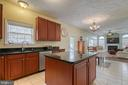 Spacious kitchen with granite countertops - 118 NORTHAMPTON BLVD, STAFFORD
