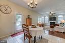 Eat-in kitchen with access to the oversized deck - 118 NORTHAMPTON BLVD, STAFFORD
