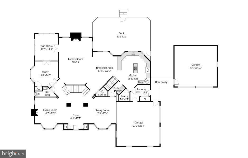 First floor plan - 16080 GOLD CUP LN, PAEONIAN SPRINGS