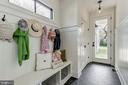 cubbies, hooks, wainscoting, closet in mudroom - 4856 33RD RD N, ARLINGTON