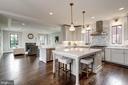 quartz island with seating, veggie prep sink - 4856 33RD RD N, ARLINGTON