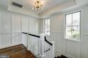 paneled walls enrich the handsome stairwell - 4856 33RD RD N, ARLINGTON
