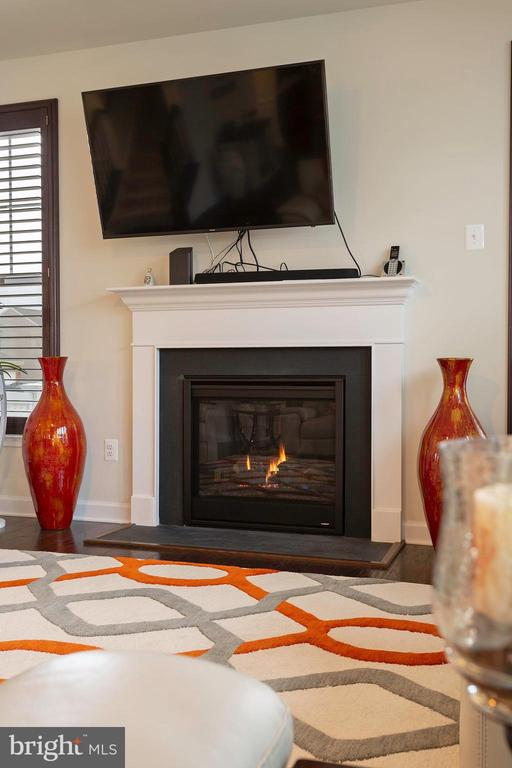 Fireplace in Family Room - 6109 HUNT WEBER DR, CLINTON