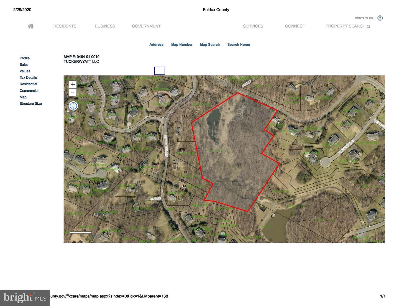 土地 のために 売買 アット Oakton, バージニア 22124 アメリカ
