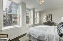 Large master bedroom with abundant light and views - 1745 N ST NW #210, WASHINGTON