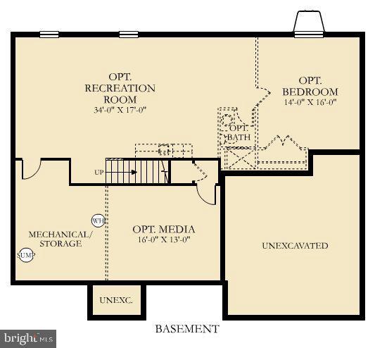 Diagram for Basement level - 6109 HUNT WEBER DR, CLINTON