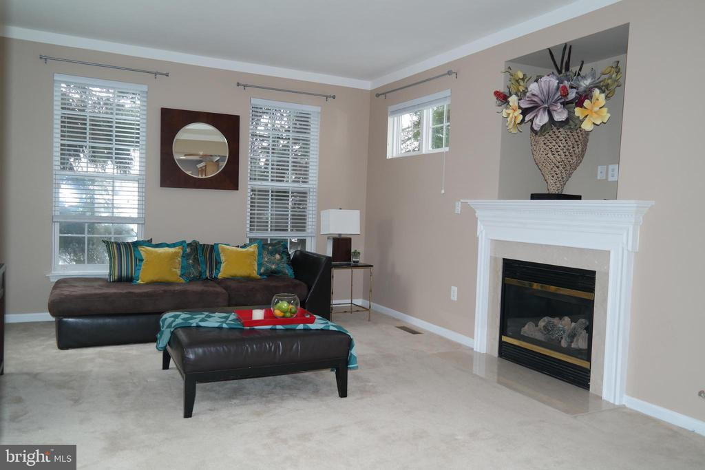 Family Room with gas fireplace & - 134 BRADDOCK ST, CHARLES TOWN