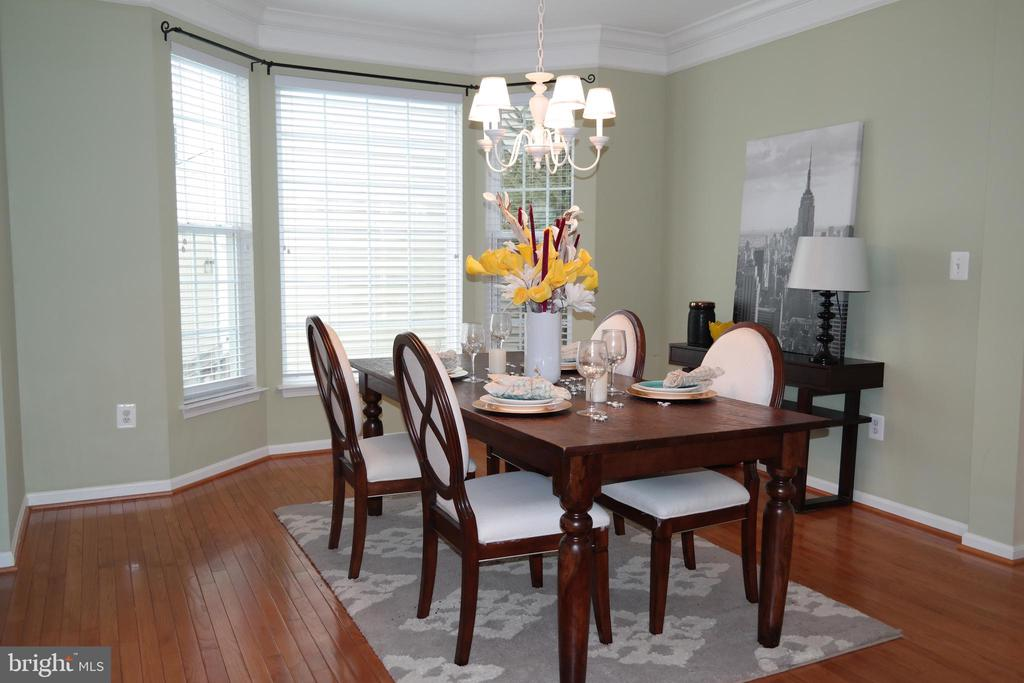 Formal Dining Room with hardwood & the Kitchen. - 134 BRADDOCK ST, CHARLES TOWN