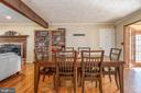 Dinning room adjacent to sun room off back of home - 42 MOURNING DOVE DR, STAFFORD