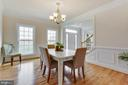crown molding  in the formal dining room - 2955 BRUBECK TER, IJAMSVILLE