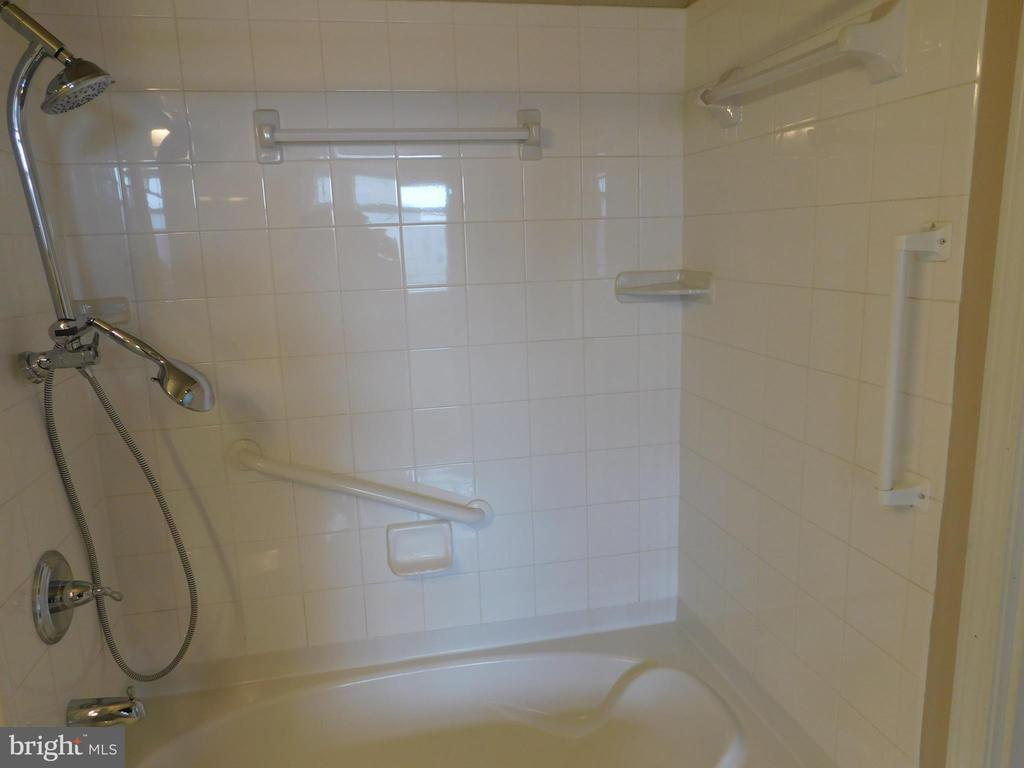 Bath Tub/ Shower with Safety Bars - 11700 OLD GEORGETOWN RD #314, NORTH BETHESDA