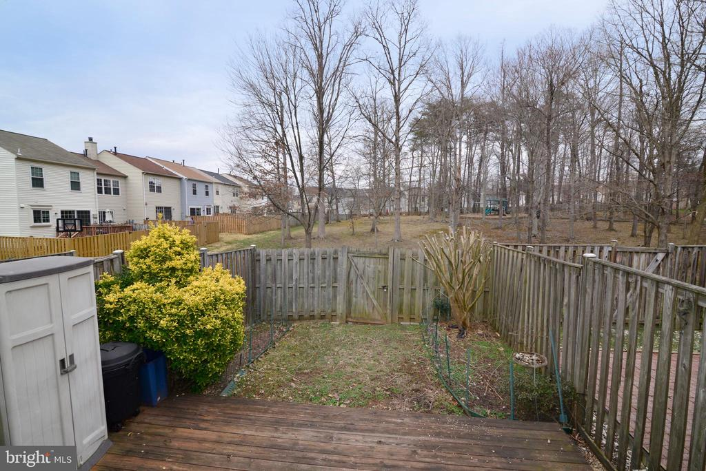 Open view to the rear yard and tot lot park area - 14776 BASINGSTOKE LOOP, CENTREVILLE