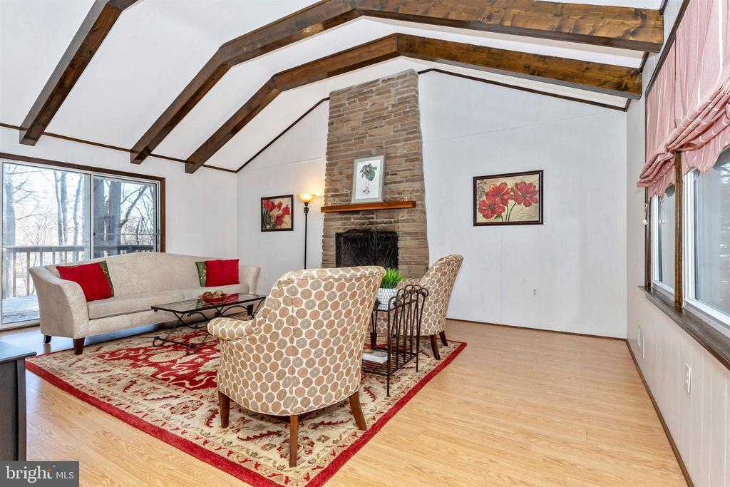 Family room with fireplace - 5800 MEADOW DR, FREDERICK
