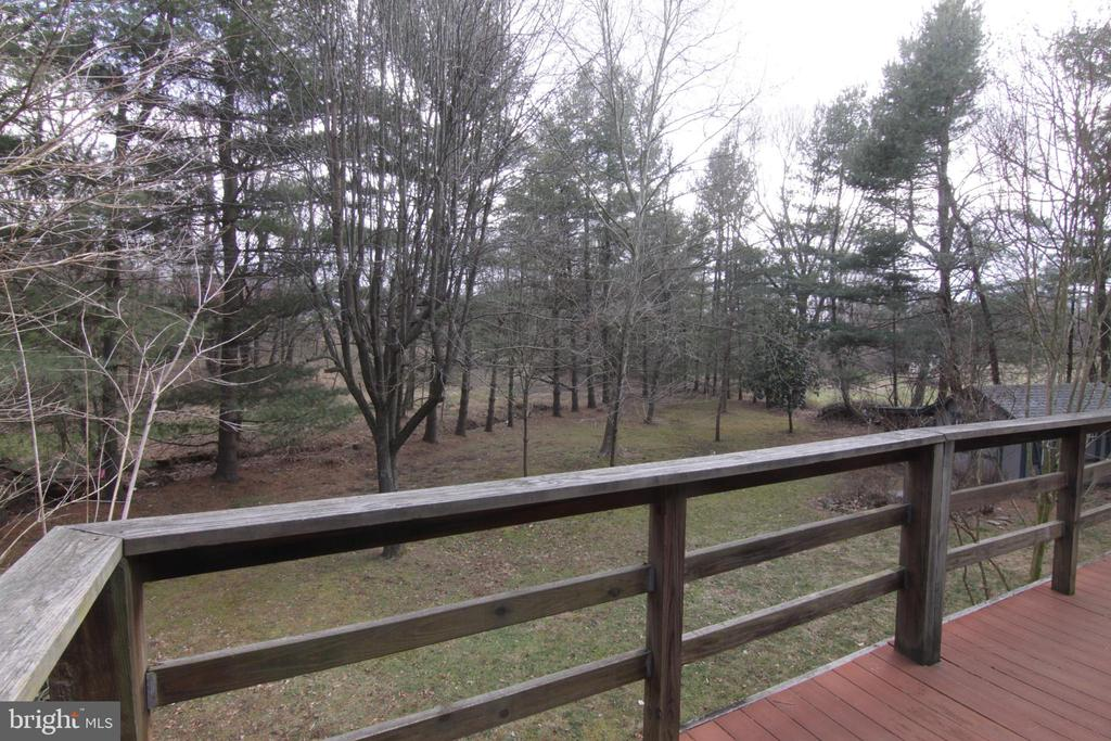 Main level deck overlook tree lined back yard - 35820 CHARLES TOWN PIKE, HILLSBORO