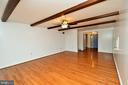 Family Room with Beamed Ceiling - 424 PEMBROKE WAY, CHARLES TOWN