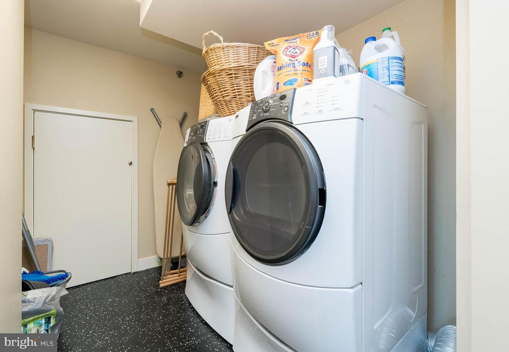 Laundry Room with extra storage. - 2901 BOSTON ST #214, BALTIMORE