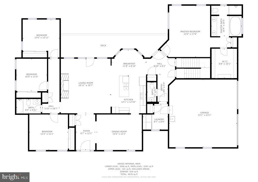 Main floor of the home - 2407 FLAG MARSH RD, MOUNT AIRY