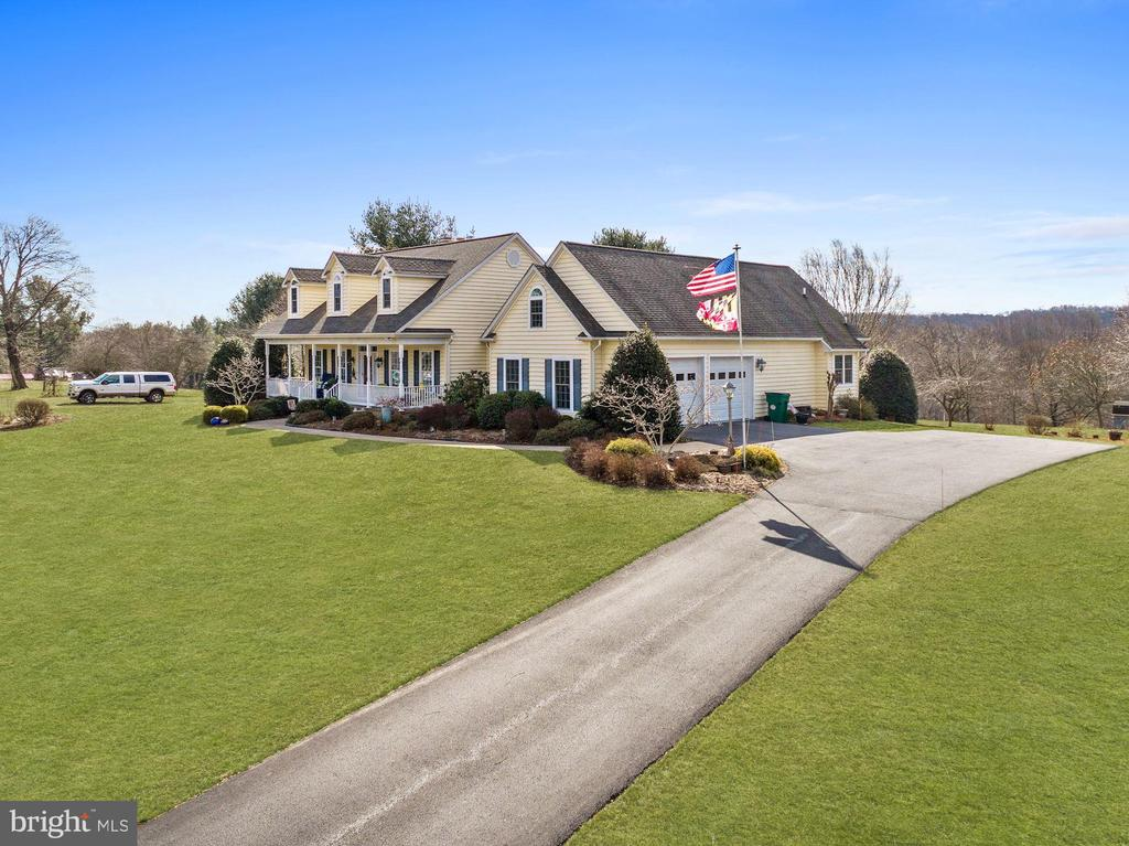 Left front  view from Flag Marsh Road - 2407 FLAG MARSH RD, MOUNT AIRY